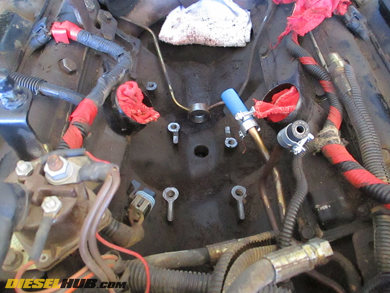 1994 1999 7 3l power stroke fuel pump replacement guide International Fuel Diagram fuel pump removed from engine valley